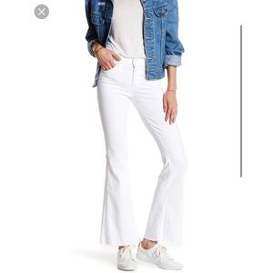 Mother Denim The Weekender Fray Jeans White 26